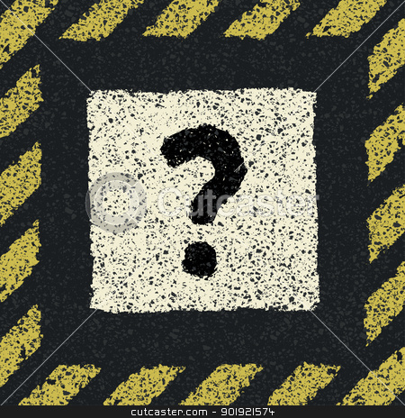 Question sign on asphalt in hazard frame. Vector illustration, E stock vector clipart, Question sign on asphalt in hazard frame. Vector illustration, EPS8 by pashabo