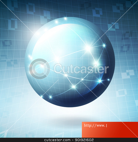 Globe information network concept illustration, vector, EPS10. stock vector clipart, Globe information network concept illustration, vector, EPS10. by pashabo