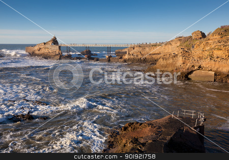 Coast of Biarritz, Aquitaine, France  stock photo, Coast of Biarritz, Aquitaine, France by B.F.