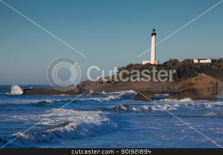 Lighthouse of Biarritz, Aquitaine, France  stock photo, Lighthouse of Biarritz, Aquitaine, France by B.F.
