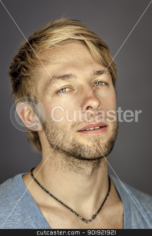 young male portrait stock photo, An image of a handsome man with a beard by Markus Gann