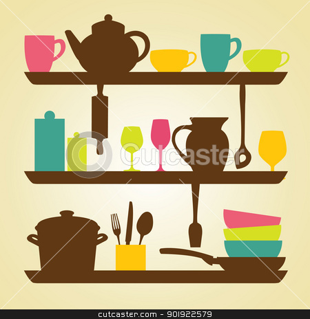 Kitchen  icons stock photo, Kitchen  icons, vector illustration by kariiika