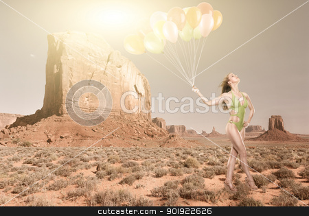 In the desert stock photo, Fashion in the desert by Picturehunter