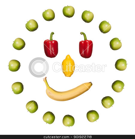 Fruits stock photo, Full isolated fruits in different colors by Picturehunter