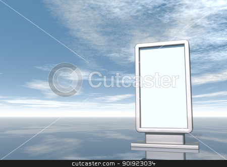 billboard stock photo, blank vertical billboard - 3d illustration by J?