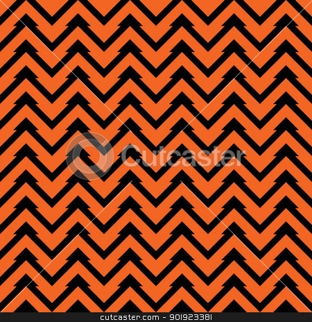 Seamless Zig-Zag Pattern stock photo, Orange and black zig zag chevron pattern. Seamless. by SongPixels