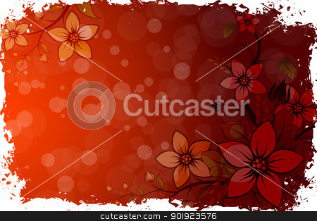 Grungy Flower Background stock vector clipart, Abstract Grunge Flower Background for Your Design by Vadym Nechyporenko
