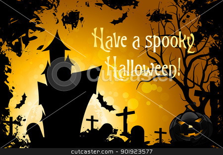 Have a Spooky Halloween stock vector clipart, Abstract Halloween Card with Message 