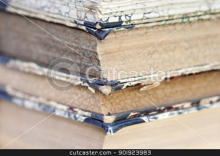 isolated old books stock photo, Detail of the old books by Siloto