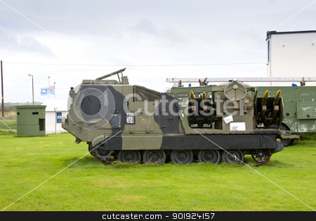 Tracked Missile Launching Vehicle stock photo, A Tracked Army Missile Launching Vehicle by d40xboy