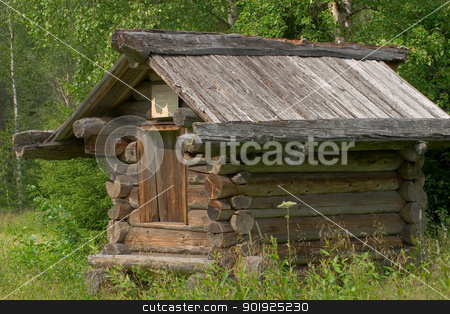 The granary stock photo, Open-air architecture museum Malye Korely, Arkhangelsk area. The granary, 19th century by Viacheslav Belyaev