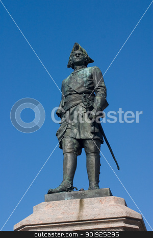 Peter the Great stock photo, Monument of tsar Peter the Great in Arkhangelsk by Viacheslav Belyaev