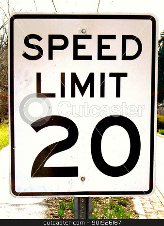 Speed Limit 20 stock photo,  by Liane Harrold