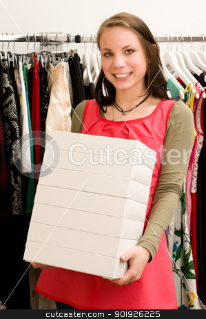 Shopping time stock photo, Customer in clothing shop by Picturehunter