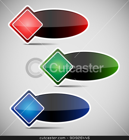 Vector glossy stickers stock vector clipart, Creative and highly reflected vector glossy sticker collection for multipurpose use. by Vladimir Repka