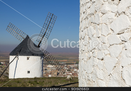 Windmill in Consuegra, Castilla la Mancha, Spain stock photo, Windmill in Consuegra, Castilla la Mancha, Spain by B.F.