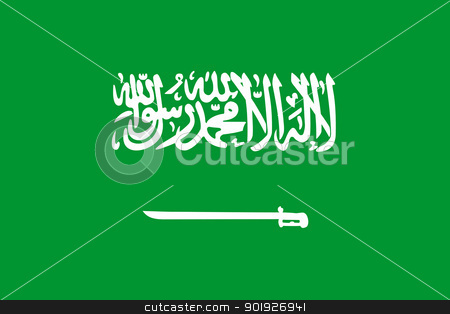 Saudi Arabia Flag stock photo, Sovereign state flag of country of Saudi Arabia in official colors. by Martin Crowdy