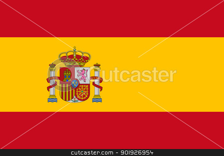 Spain Flag stock photo, Sovereign state flag of country of Spain in official colors.  by Martin Crowdy