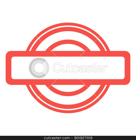 Blank red stamp stock photo, used red grunge stamp isolated on white background. by Martin Crowdy