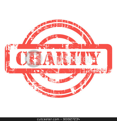Grunge Charity stamp stock photo, Charity used red grunge stamp isolated on white background. by Martin Crowdy