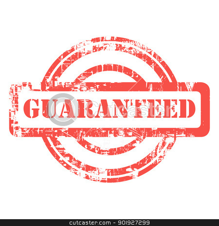 Guranteed stamp stock photo, Guaranteed grunge stamp isolated on white background. by Martin Crowdy