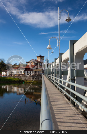 Village of Unquera, Cantabria, Spain stock photo, Village of Unquera, Cantabria, Spain by B.F.