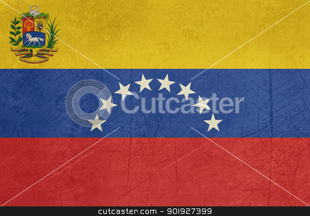 Grunge Venezuela Flag stock photo, Grunge sovereign state flag of country of Venezuela in official colors.  by Martin Crowdy