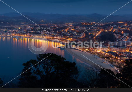 Panoramic of San Sebastian, Gipuzkoa, Spain stock photo, Panoramic of San Sebastian, Gipuzkoa, Spain by B.F.