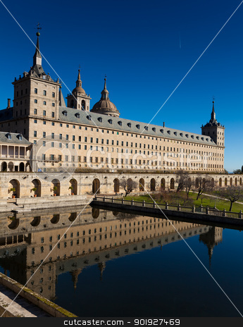El Escorial, Madrid, Spain stock photo, El Escorial, Madrid, Spain by B.F.