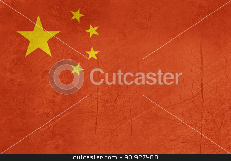 Grunge Peoples Republic of China flag stock photo, Grunge svereign state flag of country of Peoples Republic of China in official colors. by Martin Crowdy