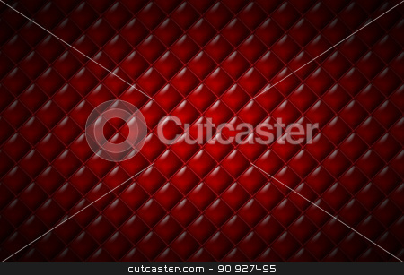 Red leather surface. stock photo, Red leather surface. by Oleksiy Fedorov