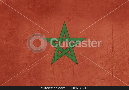 Grunge Morocco Flag stock photo, Grunge sovereign state flag of country of Morocco in official colors. by Martin Crowdy