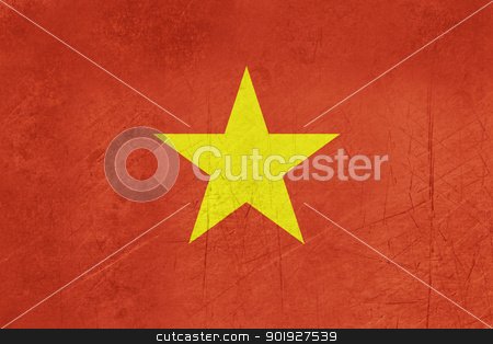 Grunge Vietnam Flag stock photo, Grunge sovereign state flag of country of Vietnam in official colors.  by Martin Crowdy