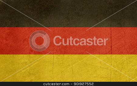 Grunge Germany Flag stock photo, Grunge sovereign state flag of country of Germany in official colors. by Martin Crowdy