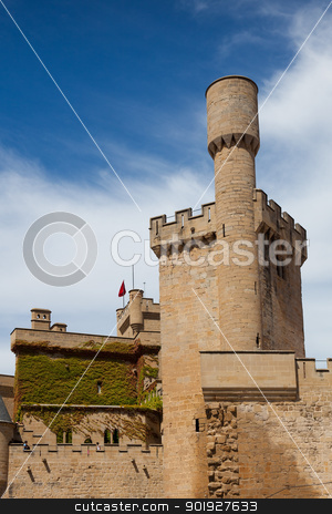 Castle of Olite, Navarra, Spain stock photo, Castle of Olite, Navarra, Spain by B.F.