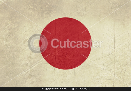 Grunge Japan flag stock photo, Grunge sovereign state flag of country of Japan in official colors. by Martin Crowdy