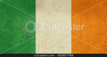Grunge Republic of Ireland flag stock photo, Grunge sovereign state flag of country of Republic of Ireland in official colors. by Martin Crowdy