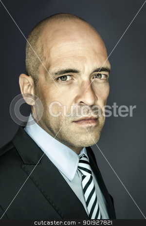 bald head man stock photo, An image of a handsome bald head man by Markus Gann