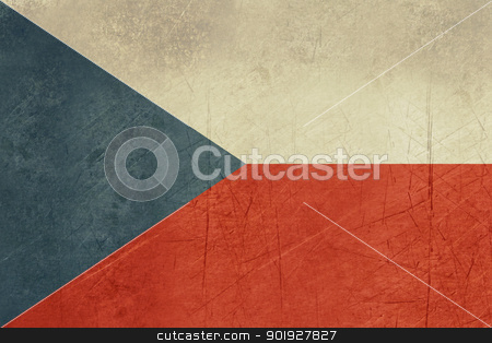 Grunge Czech Republic stock photo, Grunge sovereign state flag of country of Czech Republic in official colors. by Martin Crowdy