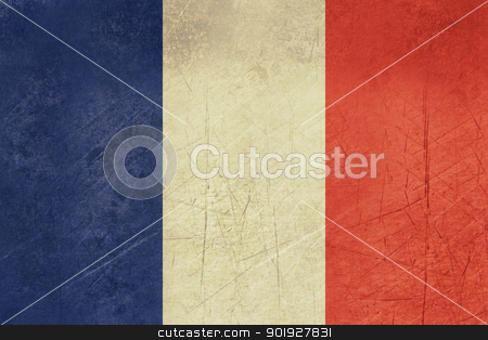 Grunge France Flag stock photo, Grunge sovereign state flag of country of France in official colors. by Martin Crowdy