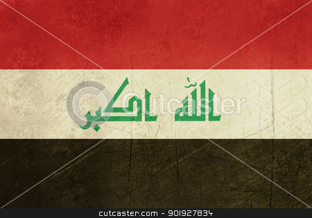 Grunge Iraq flag stock photo, Grunge sovereign state flag of country of Iraq in official colors. by Martin Crowdy