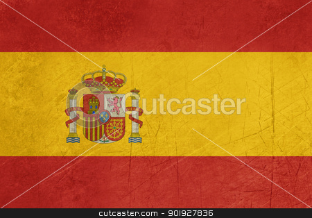 Grunge Spain Flag stock photo, Grunge sovereign state flag of country of Spain in official colors.  by Martin Crowdy