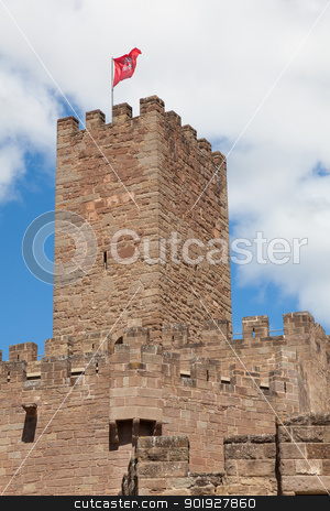 Castle of Javier, Navarra, Spain stock photo, Castle of Javier, Navarra, Spain by B.F.