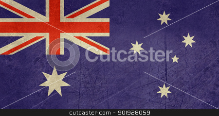 Grunge Australia Flag stock photo, Grunge sovereign state flag of country of Australia in official colors. by Martin Crowdy