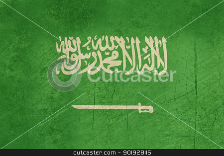 Grunge Saudi Arabia Flag stock photo, Grunge sovereign state flag of country of Saudi Arabia in official colors. by Martin Crowdy