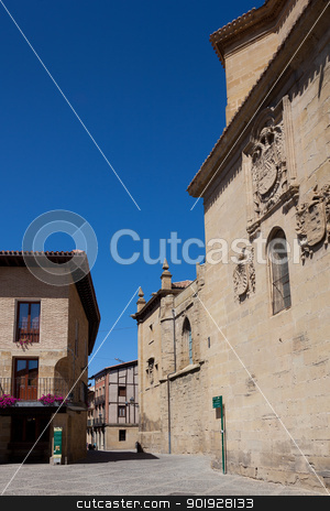 Square of Santo Domingo de la Calzada, La Rioja, Spain stock photo, Square of Santo Domingo de la Calzada, La Rioja, Spain by B.F.