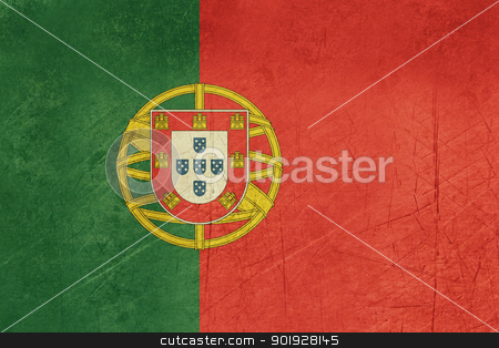 Grunge Portugal Flag stock photo, Grunge sovereign state flag of country of Portugal in official colors. by Martin Crowdy
