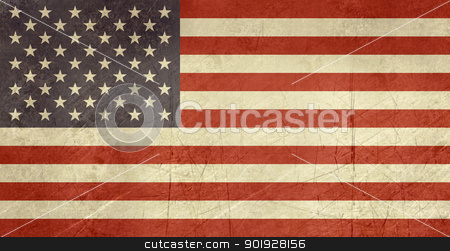 Grunge United States of America Flag stock photo, Grunge sovereign state flag of country of United States of America in official colors.  by Martin Crowdy