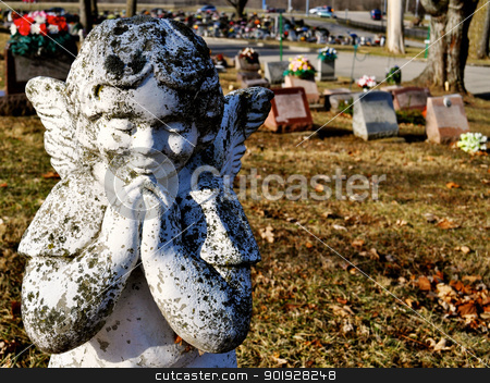 Gravesite - Angel - background stock photo, Gravesite - Angel - background by Liane Harrold