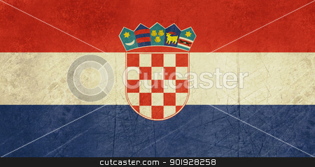 Grunge Croatia Flag stock photo, Grunge sovereign state flag of country of Croatia in official colors.  by Martin Crowdy